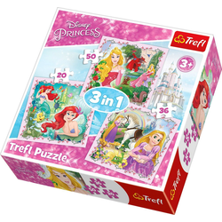 Trefl Puzzle 3in1 Puzzle 20/36/50 Teile - Disney Princess, Puzzleteile