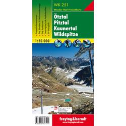 Ötztal Pitztal Kaunertal Wildspitze 1 : 50 000. WK 251