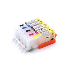 vhbw CISS Leer Drucker Tinten Patrone Set B/C/M/Y + photo Chip für Canon Pixma MG5655 wie CLI-551BK, CLI-551C, CLI-551M, CLI-551Y, PGI-550BK.