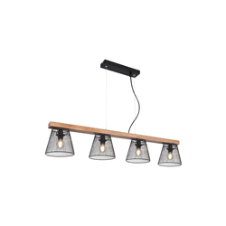 Globo Lighting Pendelleuchte Baschi mit Holzdekor