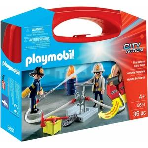Playmobil 5651 City Action Feuerwehr Köfferchen mit funktionierende Wasserpumpe