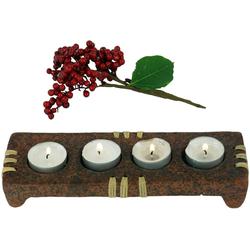 Guru-Shop Windlicht Kerzenhalter, Teelichthalter Keramik Nr.4