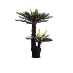 Kunstpflanze Zycas,H 800mm,PE/Kunststoff,Topf Kunststoff schwarz