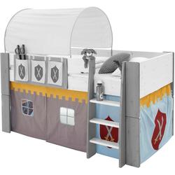 Vorhang FOR KIDS, STEENS, Bindebänder (3 Stück), für die Halbhochbetten grau