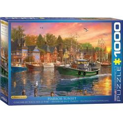 empireposter Puzzle Dominic Davison - Sonnenuntergang im Fischerhafen - 1000 Teile Puzzle 68x48 cm, Puzzleteile