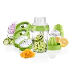 PRECORN Spiralschneider 8 in 1 Spiralschneider Gemüseschneider Gemüsehobel mit Zitronenpresse Handpresse Zitruspresse für Zitronen Orangen, (8-tlg)