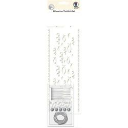 Silhouetten-Tischlicht-Set Motiv 02 VE=5 Blatt
