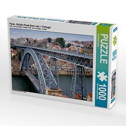 Porto - Brücke Ponte Dom Luís I - Portugal Lege-Größe 64 x 48 cm Foto-Puzzle Bild von Sichtweisen Puzzle