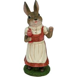 Tierfigur »Frau Hase im Kleid trinkt Wein«, Dekofiguren, 84955439-0 bunt bunt