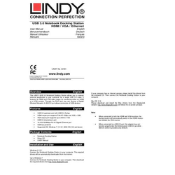 Lindy Usb 3.0 Notebook Docking Station
