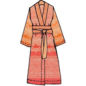 Bassetti Kimono, Baumwolle, Coralle, L-XL cm