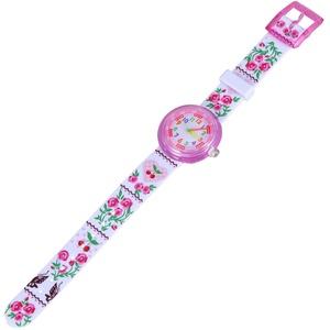 ibasenice Kinderuhren -Schöne Cartoon Uhr Silikon Kleine Frische Uhr Freizeit Zeiger Armbanduhr Kreative Druck Armbanduhr für Mädchen Studenten Kinder Frische Blume Stil