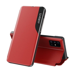 cofi1453 Smartphone-Hülle Eco Leather View Case Buch Tasche Leder Handyhülle Schutzhülle aufklappbare Hülle Standfunktion kompatibel mit iPhone 12 rot