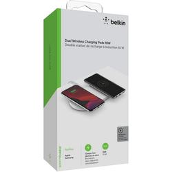 Belkin 2x 10W Dual Wireless Charging Pad mit Netzteil Wireless Charger weiß