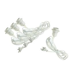 BigDean 4x Netzkabel mit Schalter E27 Fassung Lampenkabel Lampen-Verbindungskabel, (350 cm)