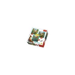 Trefl Puzzle 3in1 Puzzle - 20/36/50 Teile - Dinosaurier, Puzzleteile