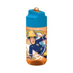 p:os Trinkflasche Tritan-Trinkflasche inkl. Strohhalm Feuerwehrmann