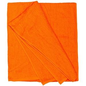 Strandhandtuch I Handtuch XXL I Badehandtuch Groß I Strandtuch XXL I Großes Strandtuch I Saunatuch I Badetuch in Übergrößen 155 x 220 cm oder 100 x 220 cm, Größe:100x220, Farbe:515 Orange