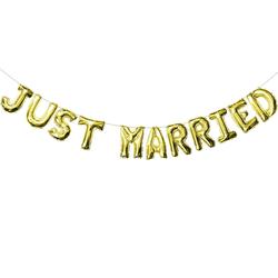 Just Married Folienballon Girlande Hochzeit Deko Hochzeitsfeier Hochzeitsdeko gold