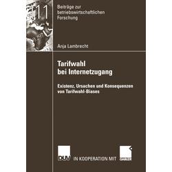 Tarifwahl bei Internetzugang als Buch von Anja Lambrecht