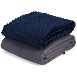 Gewichtsdecke, Gewichtete Deckemit Bezug, Baumwolle Gewichtete Decke, COSTWAY, 11,3kg