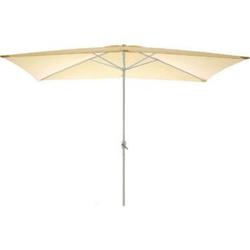 VCM Sonnenschirm eckig 2x3m beige Kurbel Marktschirm Rechteckschirm Sonnenschutz