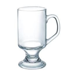 Arcoroc Teeglas Irish Coffee, Glas, Kaffeeglas mit Henkel 290ml Glas transparent 4 Stück Ø 7.1 cm x 14.2 cm