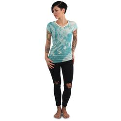 Butterfly V Neck T-Shirt (Größe: 2XL)