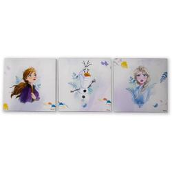 Disney Leinwandbild Frozen 2, (Set, 3 Stück)