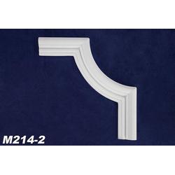 M214-2 Schmuck Segmentbogen zur Leiste M214 Wand Deckenspiegel Zierelement 230x230mm