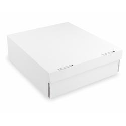 Kuchenkarton - Tortenkarton aus Mikrowellpappe, 28x28x10cm, weiß, 100 Stk.