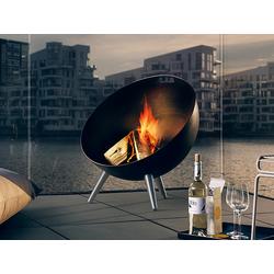 Feuerschale FireGlobe Eva Solo schwarz, Designer Tools Design, 75x64x64 cm