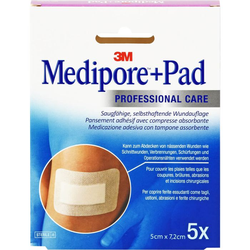 MEDIPORE+Pad 3M 5x7,2cm 3562NP Pflaster 5 St.