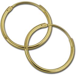 GoldDream Paar Creolen D2GDOB00125K GoldDream Echtgold Ohrringe Creolen (Creolen), Damen Creolen Ohrring aus 333 Gelbgold - 8 Karat, Ø 25mm