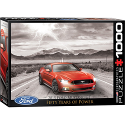 empireposter Puzzle 50 Jahre Ford Mustang GT 2015 - 1000 Teile Puzzle im Format 68x48 cm, 1000 Puzzleteile