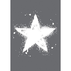 Rayher Siebdruckschablone Stern grau