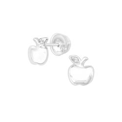 BUNGSA Ohrstecker-Set Ohrstecker Apfel mit Kristall aus .925 Silber