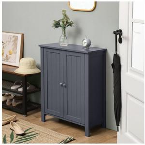 VASAGLE Badkommode BCB60W BCB60GY, Badezimmerschrank, 60 x 80 x 30 cm, grau grau