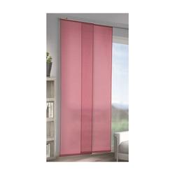 Flächenvorhang Schiebegardine Gardine Vorhang Paneel Max uni rot 245x60 cm