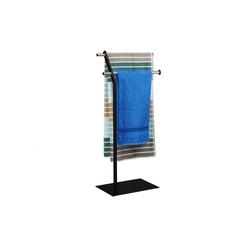 relaxdays Handtuchständer Handtuchhalter freistehend Chrom