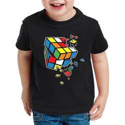 style3 Print-Shirt Kinder T-Shirt Explodierender Zauberwürfel sheldon 128