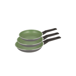 Michelino Pfannen-Set Pfannen-Set 3-teilig Lara, Aluminium (3-tlg), Pfannenset grün