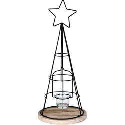 Weihnachtlicher Teelichthalter Kegel Windlicht Weihnachtsdeko Adventsdeko 43 cm