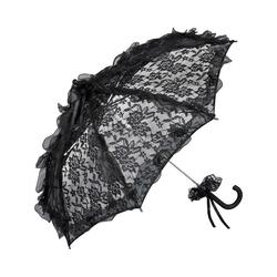 von Lilienfeld Stockregenschirm Hochzeitsschirm aus Spitze schwarz, Bespannung Spitze