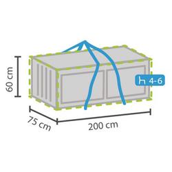 PEREL Auflagenbox (1 Stück), Schutz-Hülle für Auflagen-Tasche Aufbewahrungstasche Lounge-Kissen