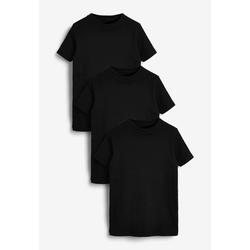 Next Unterhemd Gerippte T-Shirts aus GOTS Bio-Baumwolle, 3er Pack (3 Stück) 166-176