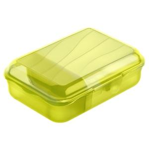 Rotho FUN Vesperbox, Größe S (900 ml), Brotdose, Maße: 177 x 129 x 60 mm, Farbe: lime grün