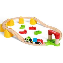 BRIO Spielzeug-Eisenbahn Mein erstes Bahn Set mit Batterielok, FSC-Holz aus gewissenhaft bewirtschafteten Wäldern bunt Kinder Kindereisenbahnen Autos, Eisenbahn Modellbau