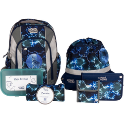 SCHOOL-MOOD® Schulrucksack Loop Air+, Felix (Set), mit LED-Patchy