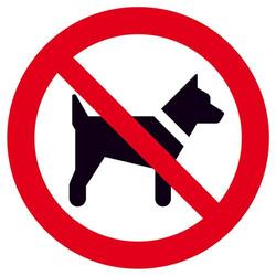 Verbotsschild Mitführen von Hunden (Tieren) verboten Folie selbstklebend (Ø) 315mm ISO 7010 1St.